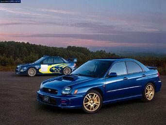 2000 Subaru Impreza WRX STI and 2001 Subaru Impreza Rally Car.jpg