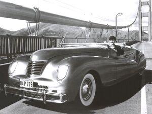 1941 Chrysler Newport LeBaron Concept Car Frt Qtr BW.jpg