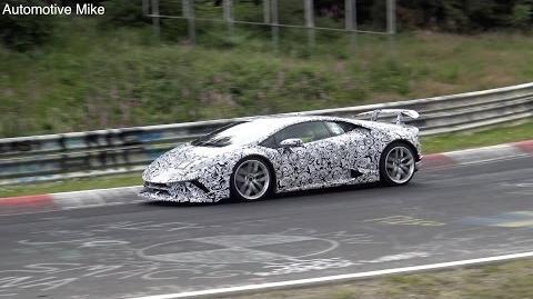 2018 Lamborghini Huracan Superleggera spied testing at the Nürburgring
