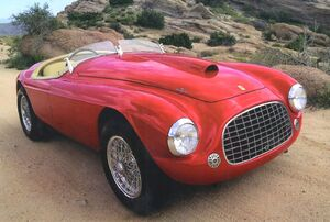 1948 Ferrari 166 MM Touring Barchetta Roadster Red Frt Qtr.jpg