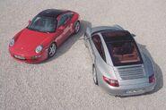 2007 porsche 997 targa 4s red silver 3
