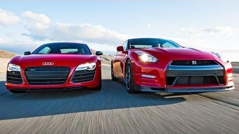 2014 Nissan GT-R Track Pack vs 2014 Audi R8 V-10 Plus! - Head 2 Head Episode 33