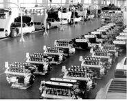 Lamborghini miura assembly line