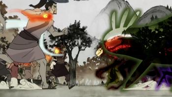Bataille dans les Terres des Esprits