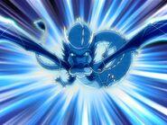 Fang fliegt auf Aang zu