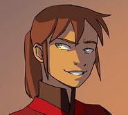 Biyu smiles mockingly