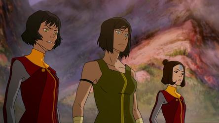 Korra, Opal, and Jinora negotiate.png