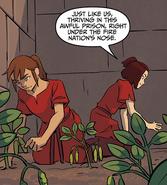 Suki and Biyu tend to their garden