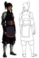 Korra Uniform Konzeptzeichnung