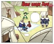 Bumi gegen Toph, Runde 1 Cover
