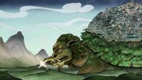 Fire lion turtle