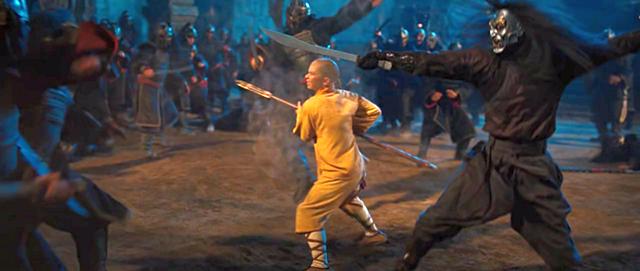 Film - Aang fighting alongside Blue Spirit.png