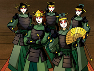 Ty Lee with the Kyoshi Warriors