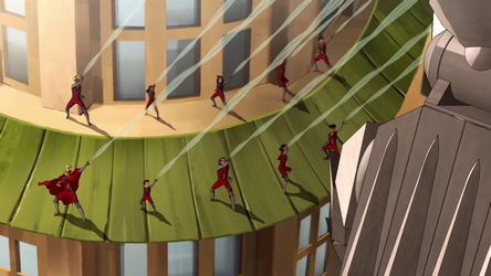 Airbenders attack Kuvira's mecha suit.png