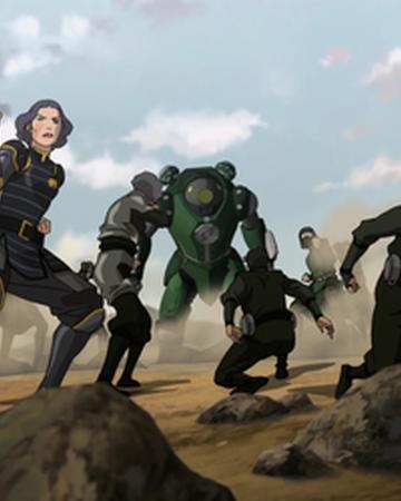 Beifongs versus Earth Empire soldiers.png