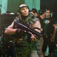 Lyle Wainfleet on set Avatar