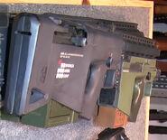 CARB assault rifle live firing prop back