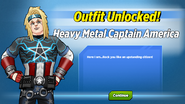 Outfit Unlocked! Heavy Metal Captain America