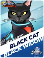 New Outfit Pet Avengers Event Black Cat Black Widow