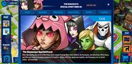 The Runaways Special Event tab