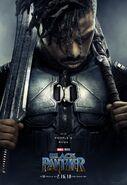 Black Panther Charakterposter Erik Killmonger