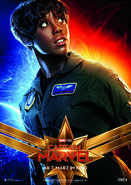 Captain Marvel deutsches Charakterposter Maria Rambeau
