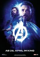 Avengers Infinity War - Poster - Blau Deutsch