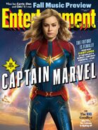 Captain Marvel Entertainment Weekly Cover
