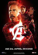 Avengers Infinity War - Poster - Rot Deutsch