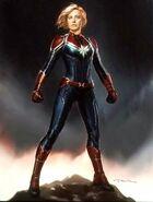 Captain Marvel Konzeptzeichnung