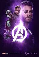 Avengers Infinity War - Poster - Lila