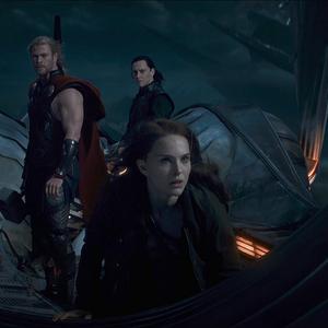 Thor The Dark World Thor, Jane and Loki.png