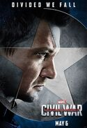 The First Avenger- Civil War Hawkeye Charakterposter
