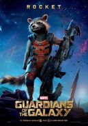 Guardians of the Galaxy Rocket movie poster