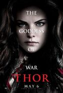 Thor Charakterposter Lady Sif