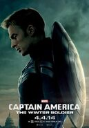 Captain America The Winter Soldier Captain America Charakterposter