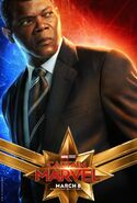 Captain Marvel Charakterposter Nick Fury