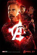Avengers Infinity War - Poster - Rot