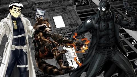 PVP 27 ROCKET RACCOON + SPIDER-MAN NOIR (Adamantium League) Marvel Avengers Alliance Agent ANNHE