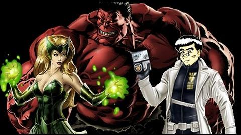 PVP 23 Enchantress & Red Hulk (Adamantium League) Marvel Avengers Alliance.