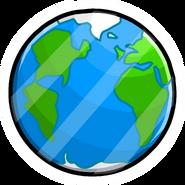 Pine globe terrestre