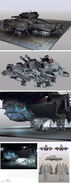Alienisolation vehicle anesidora concept sheet by brad wright
