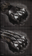 Power Punch glove before and after