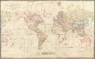 A Chart of the World upon Mercator's projection exhibiting all the new discoveries.