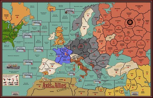axis and allies europe map Axis & Allies Europe (Modified Map) | Axis & Allies Wiki | Fandom