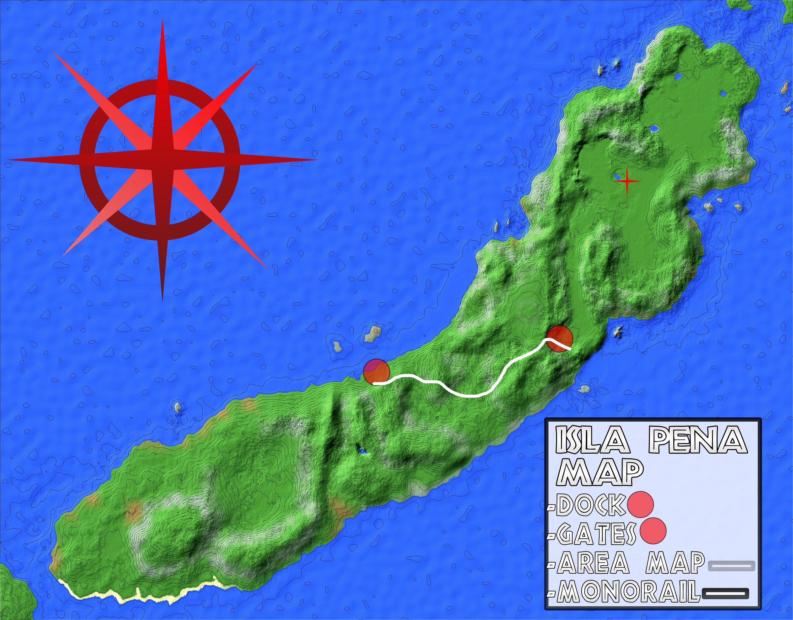 30+ Jurassic World Evolution Isla Pena Map Background