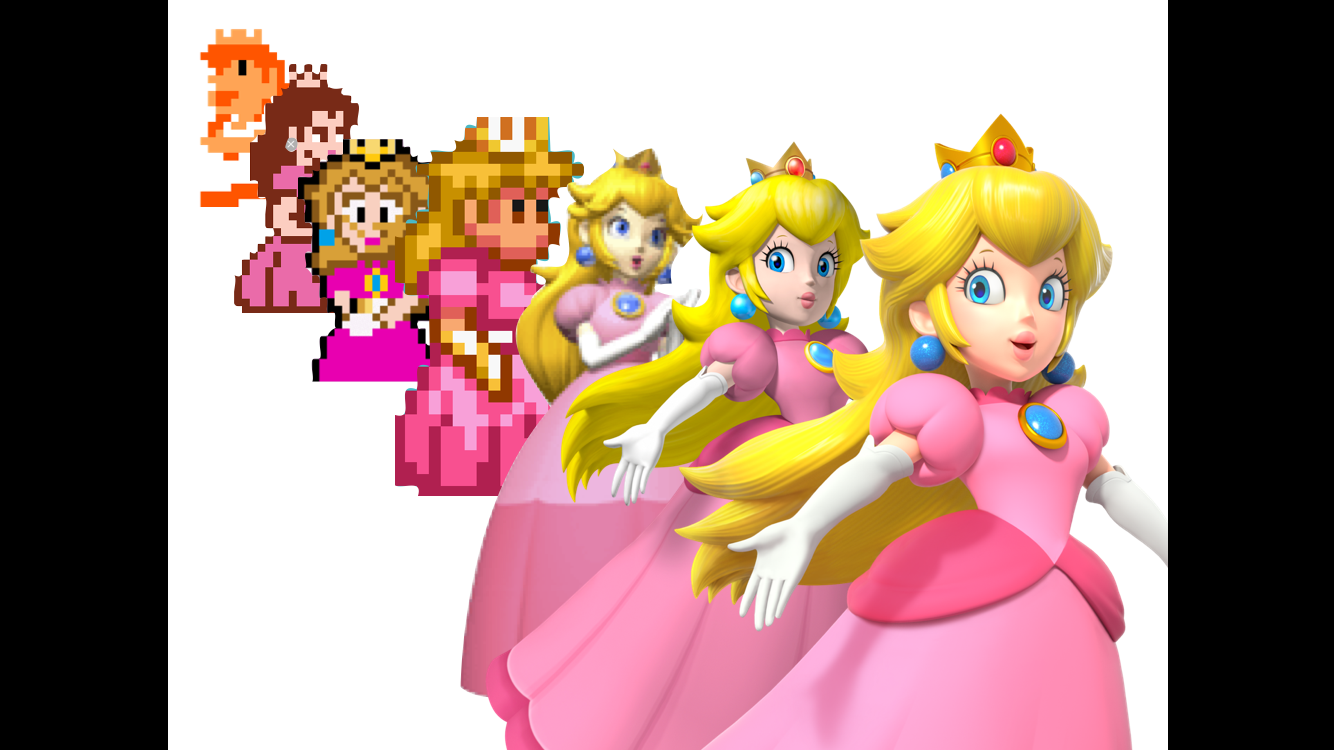 Evolution of yours truly, princess peach.