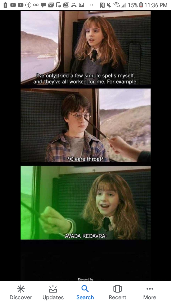 Hermione looks happy about it