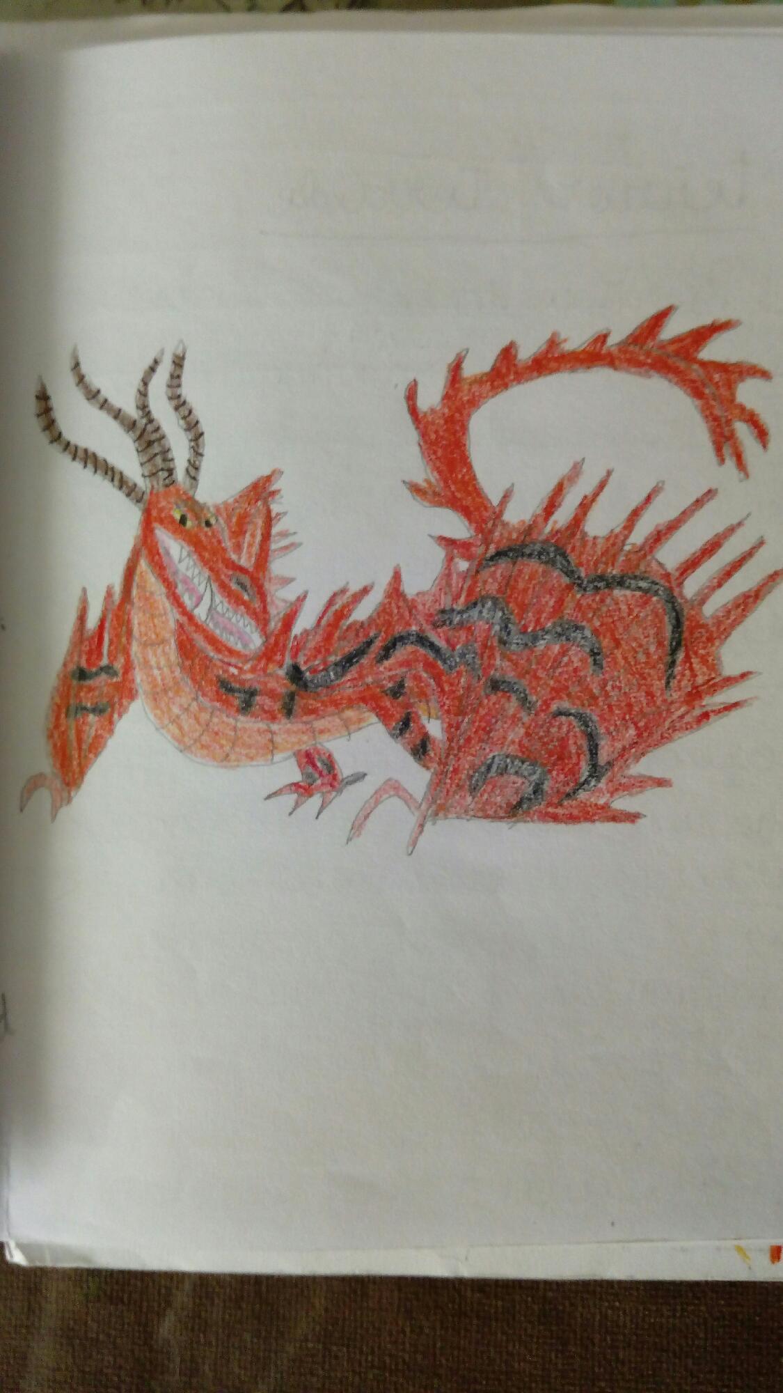 Dibujo De Libro De Dragones Pesadilla Monstruosa Y Furia Nocturna
