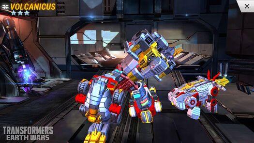 TRANSFORMERS: Earth Wars - Volcanicus, Superion, Optimus Maximus